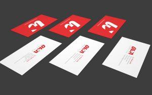 hojas membretadas y tarjetas de presentacion